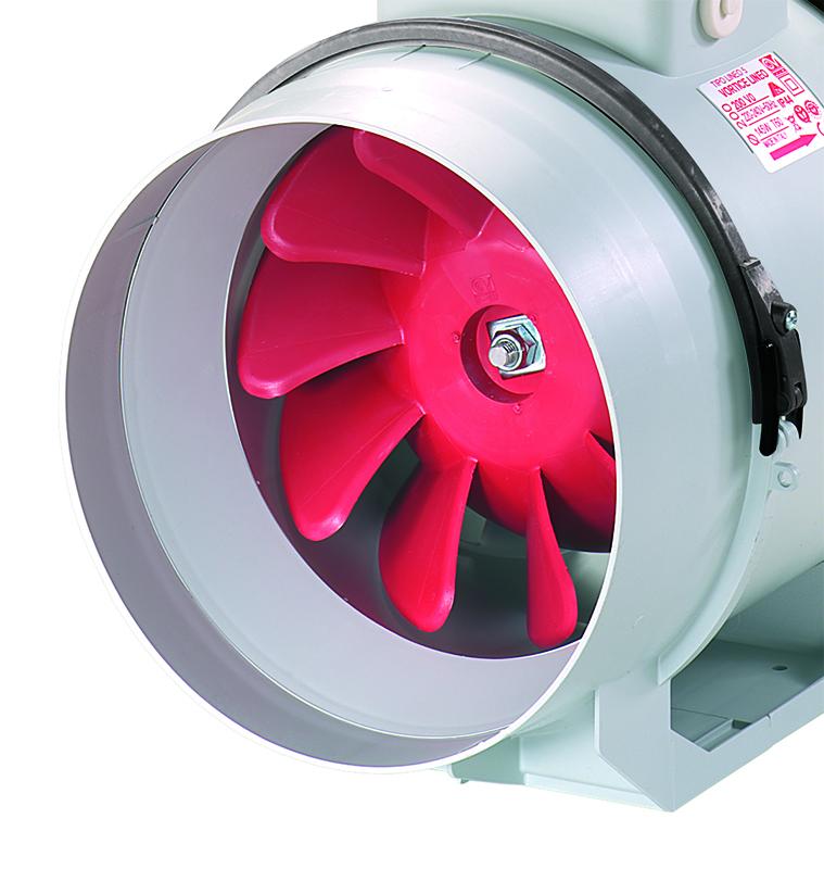 V In Line Fans : Vortice lineo v commercial ventilation mixed flow
