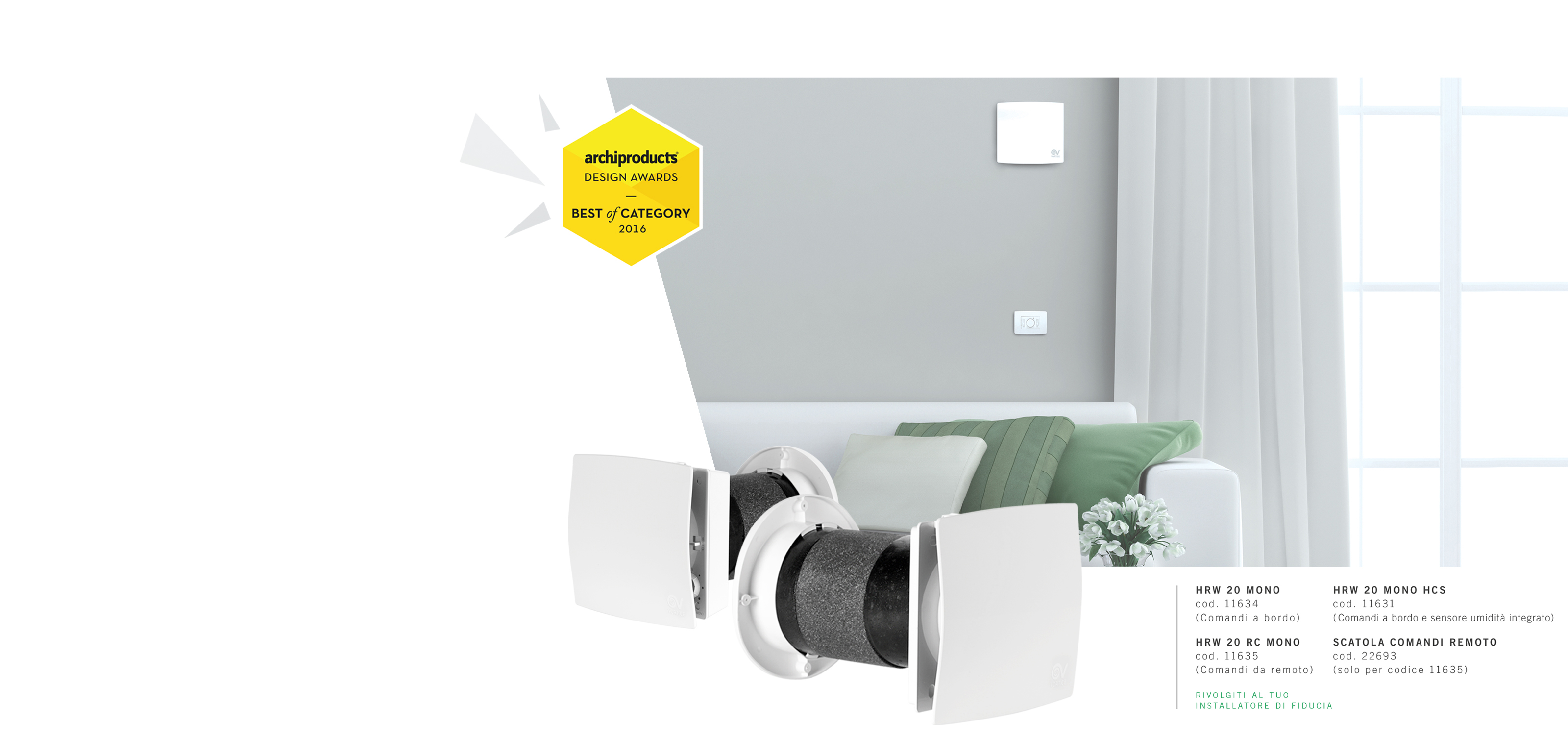 Vortice ventilation, fans and air conditioners